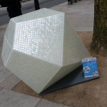 Biggest diamond in Hatton Garden? Designworks Tiles mosaic gem stand in the heart of Clerkenwells jewelry district.