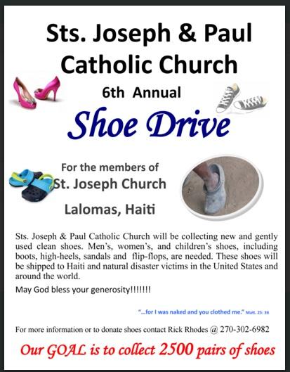 6th Annual Shoe Drive for Haiti - Sts Joseph  Paul Catholic Church