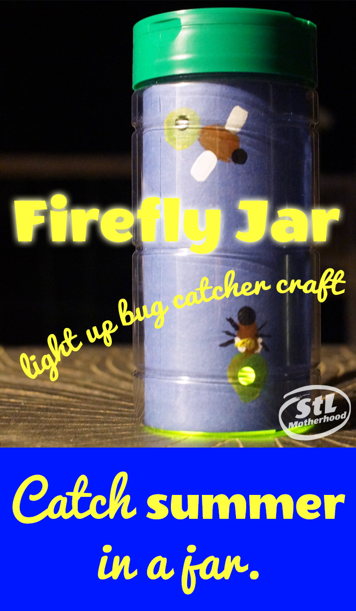 Firefly Jar Art Firefly Catcher Craft No Bugs Required