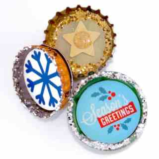 Use this Printable for Super Fast Bottle Cap Magnets (Giveaway)