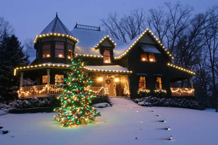 Free Desktop Wallpaper Falling Snow View Residential Lighting Displays Amp Decorations From St