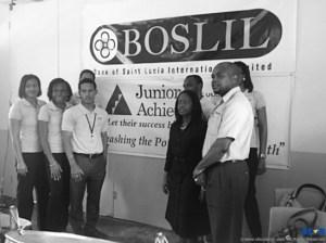 Bank of Saint Lucia JA Volunteers  at presentation.