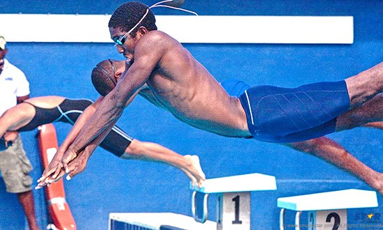 Julien Brice is a swim coach with Sports Academy St Lucia.