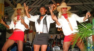 A blast from the past! Do you recognize these individuals there were part of the act in a fundraising for sickle cell?