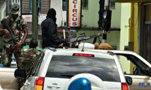 """A scene from """"Operation Restore Confidence"""" underway in the city of Castries in 2011."""