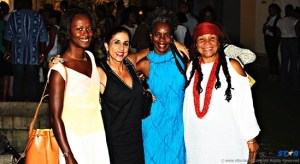 L-R: Saint Lucian fashion impresario Shala Monroque, She Caribbean publisher Mae Wayne, Andreas of 5th Element Barbados and Jackie Cohen of Mutamba Designs Jamaica.
