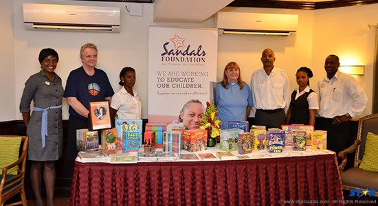 The presentation this week of educational material by Sandals guests.