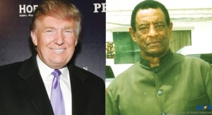 """Left: Donald Trump; The famous business tycoon and presidential hopeful  describes politicians as largely talentless, easily bought, liars and purveyors of snake oil! Right: George Odlum; As far back as the early 70s, the now deceased former foreign affairs minister had advocated that politicians who fool the people should be  """"hanged in Columbus Square!"""""""