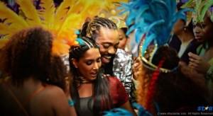 "Machel Montano and Natalie Perera, from the movie ""Bazodee."""