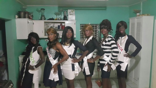 Contestants for the upcoming Miss Gay Universe Pageant.