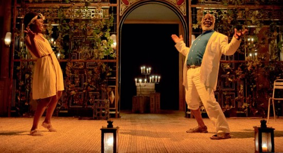 After its sell-out run in 2014, Walcott's Omeros, featuring Joseph Marcell, returned to the candlelit Sam Wanamaker Playhouse at the London Globe.