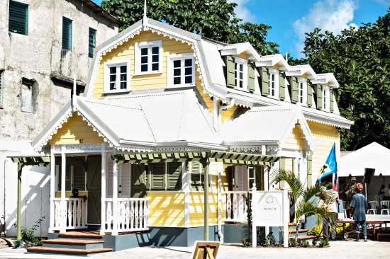 The recently opened Walcott's place in Grass Street Castries.