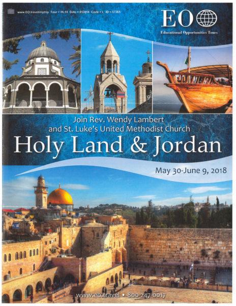 Holy Land and Jordan Trip Brochure St Luke\u0027s