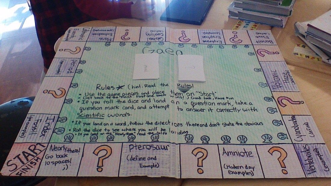 science project Board game - Class of 2016