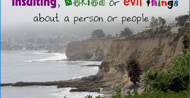 Backbiting – A Christian Backstabber