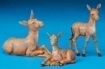 Fontanini Nativity Collection Donkey Family Set Of 3