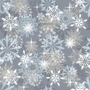 Seamless Snowflakes Background Winter Christmas Theme Vector - christmas theme background