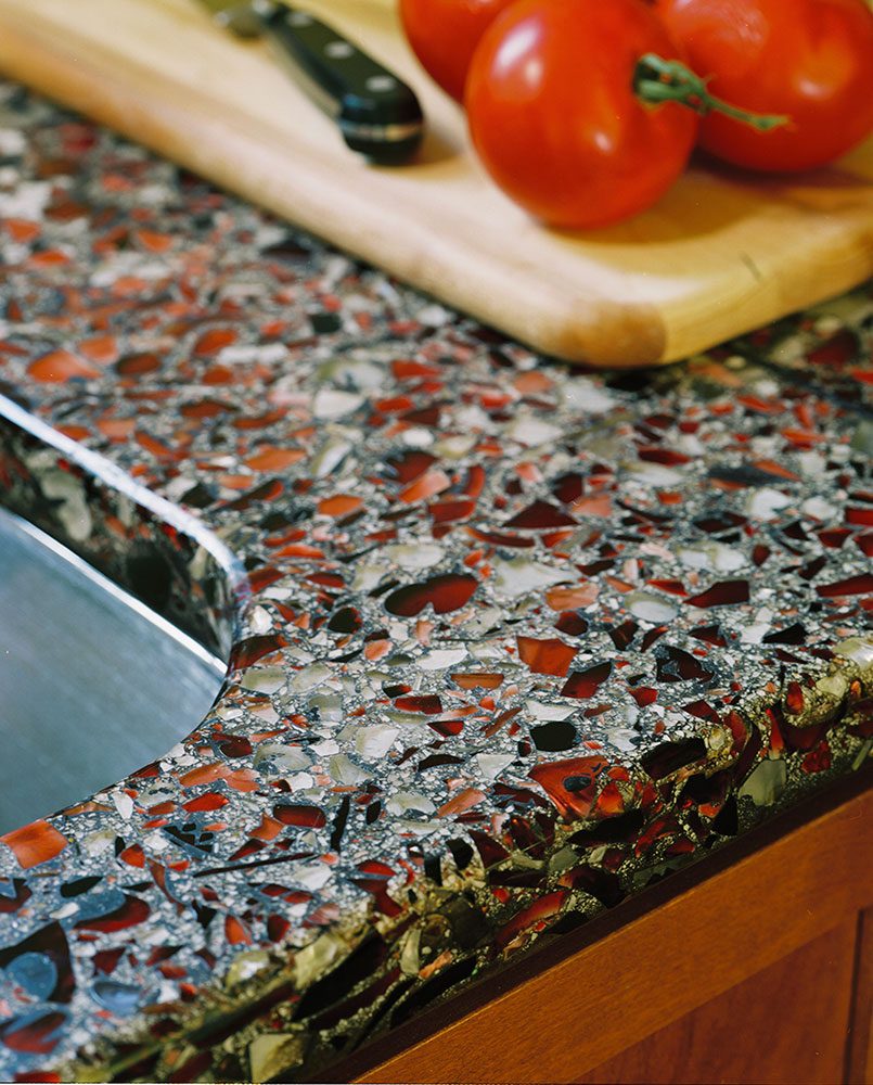 Think Glass Countertops The Pros Cons Of Glass Countertops