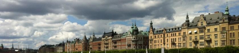 панорама Стокгольма, набережная