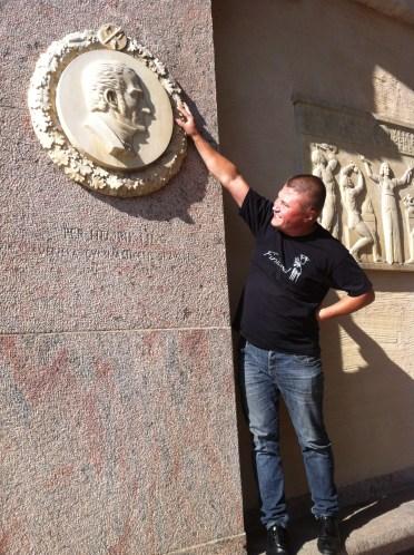 фото с Нобелем у Ратуши