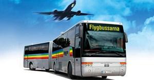 как добраться из аэропорта Арланда в Стокгольм до гостиницы, недорого, на автобусе, flygbussarna
