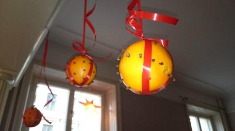 шведские рождественские украшения - апельсины