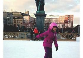Покататься на коньках в Стокгольме!