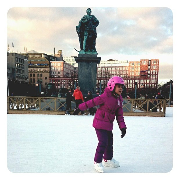 Покататься на коньках в Стокгольме