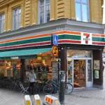 7 eleven  магазин где продаются каточки для аренды велосипеда в Стокгольме