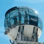 Стеклянный шар смотровая площадка Глобен в Стокгольме