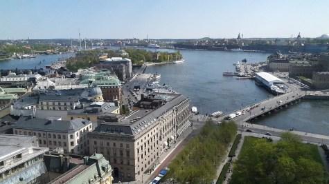 вид на Стокгольм с высоты обзорной площади открытой к Евровидению 2016