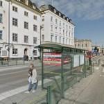 остановка автобуса №76 который едет из порта в Старый город в Стокгольме