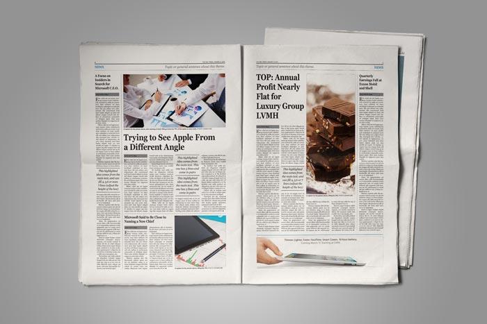 Old Style Newspaper Template StockInDesign - news paper template