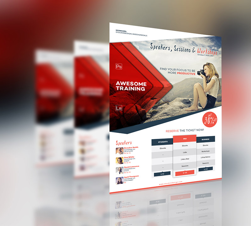 Corporate Event Flyer StockInDesign - event flyer