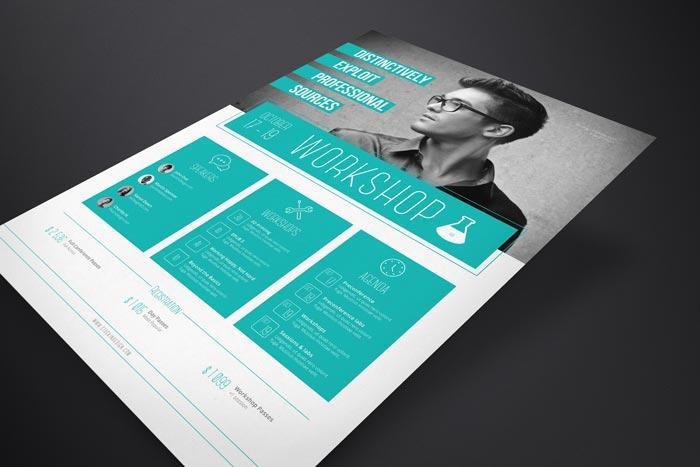 Corporate Flyer Template Workshop StockInDesign - corporate flyer template
