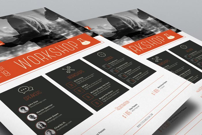 Corporate Flyer Template Workshop StockInDesign