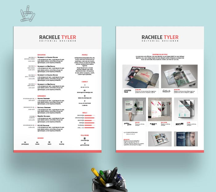 free template cv indesign
