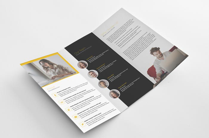 FREE Trifold Brochure - Free InDesign Templates - Tri Fold Brochures Free