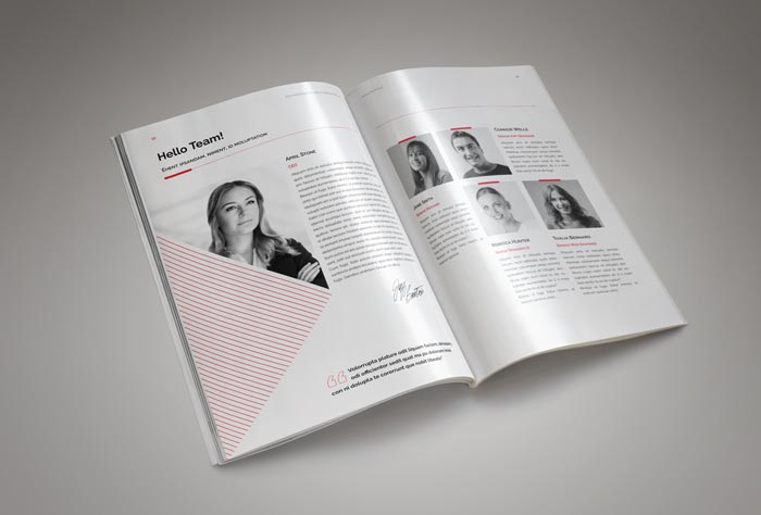 Annual Report Template InDesign Template for Designers - annual report template
