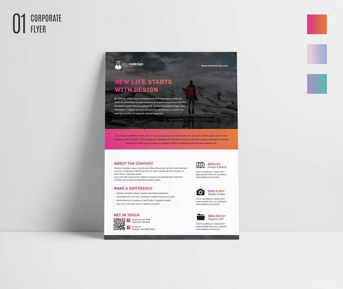 FREE InDesign Bundle 10 Corporate Flyer Templates StockInDesign - free business flyers templates