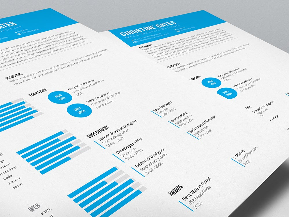 Clean Resume Template StockInDesign - clean resume template