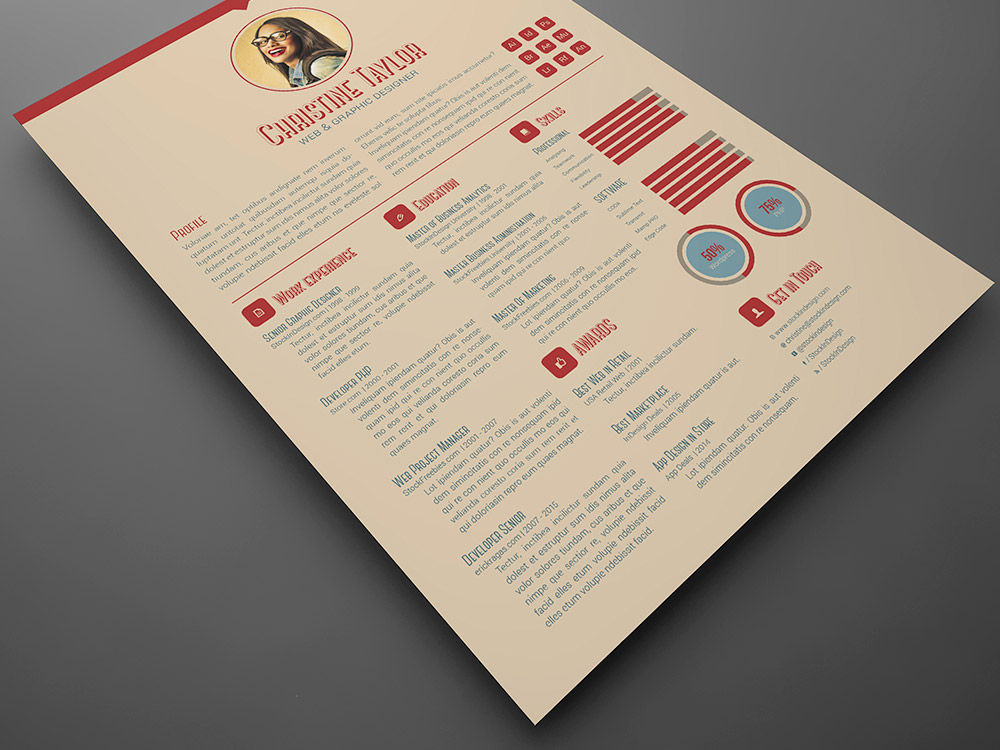 Business Resume Template StockInDesign - resume template for business