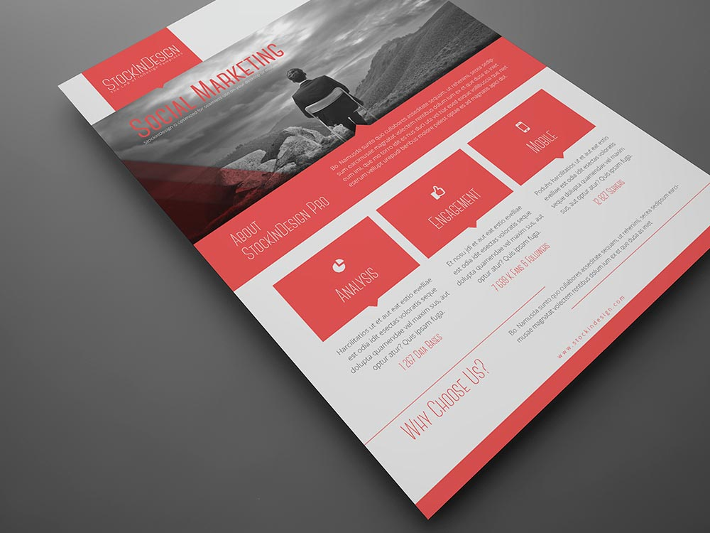 FREE Corporate Flyer - free indesign template