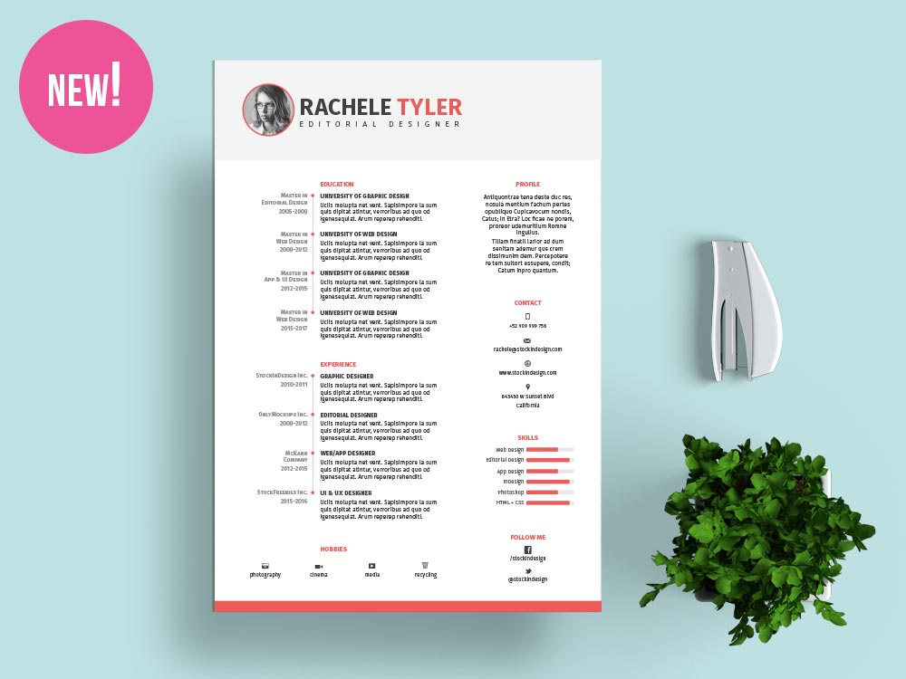 Resume Template 92 Free Word Excel Pdf Psd Format Free Indesign Resume Template Stockindesign