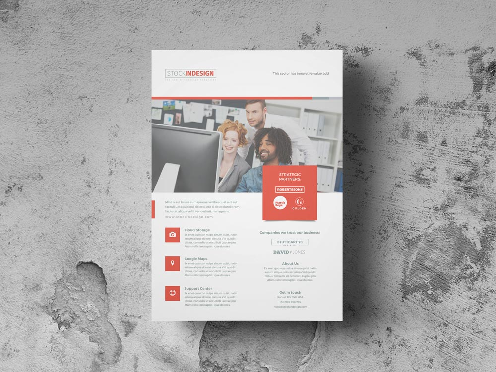 FREE Corporate Flyer Template StockInDesign - free indesign template