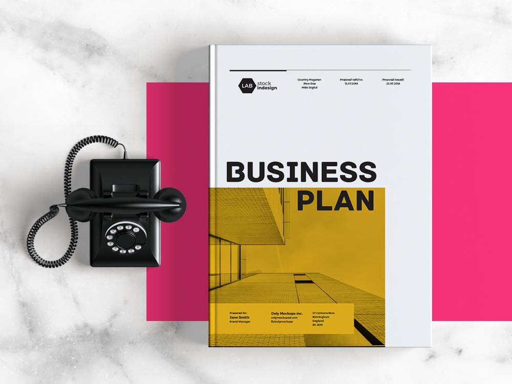 Business Plan Template Adobe InDesign Template - business plan templates