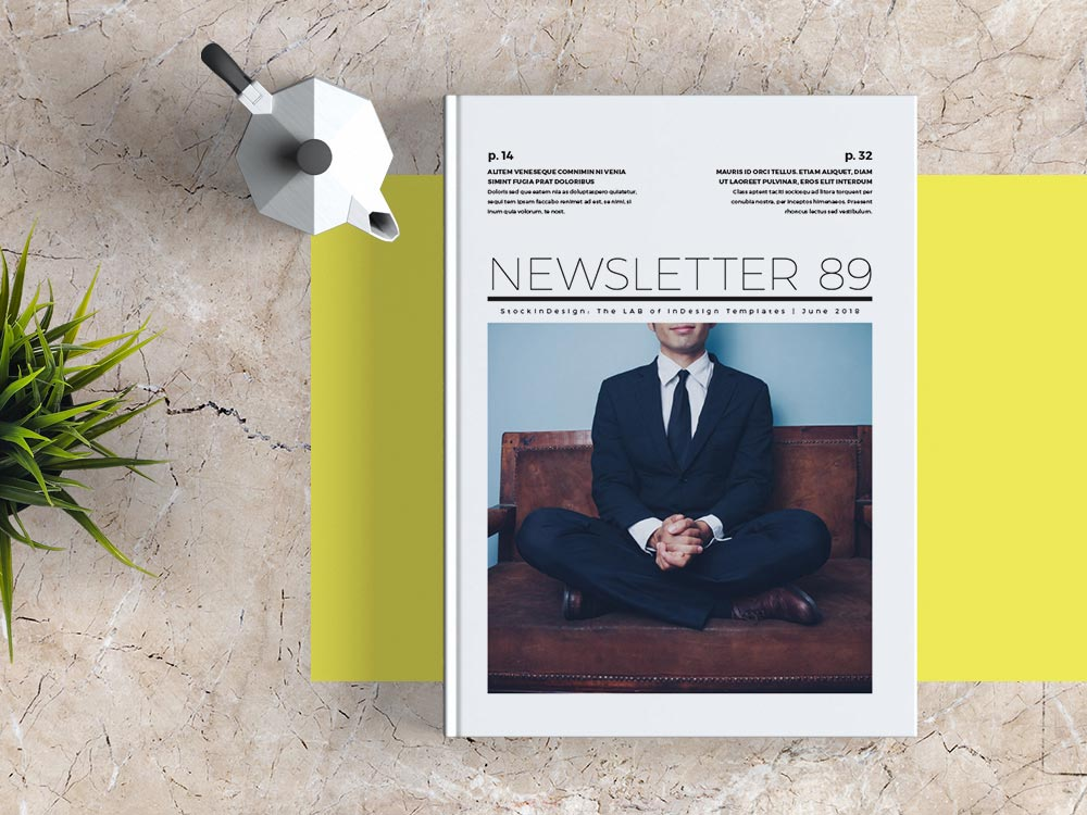 FREE Newsletter Template for Adobe InDesign FREE InDesign Templates - company newsletter template free