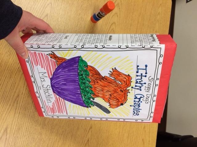 Cereal Box Book Report - Mrs Stocklin\u0027s 2nd Grade Class