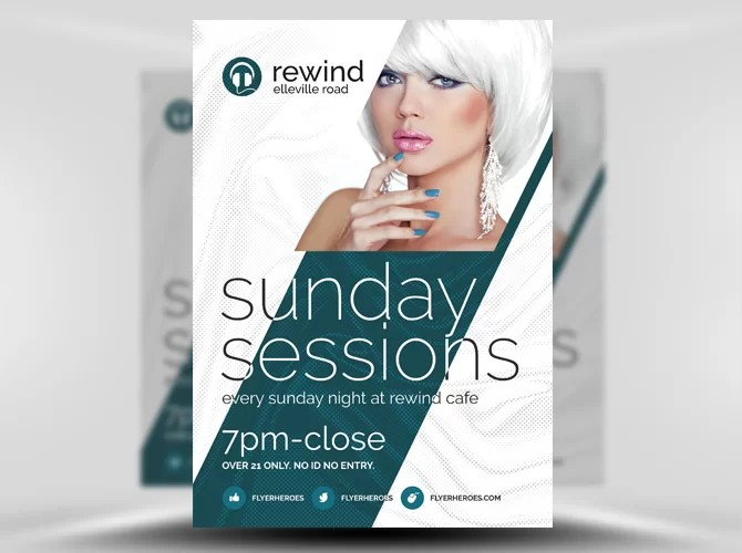 Stockpsdnet \u2013 Freebie Templates Free Sunday Sessions PSD Flyer