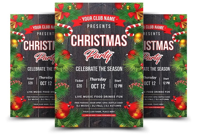 Christmas Party 2018 - PSD Flyer Template - Stockpsdnet